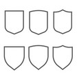 security assurance gray outline icons set vector image vector image