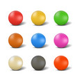 set of balls for playing snooker vector image