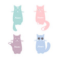 set of cartoon images of cute cats vector image