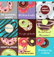 set of donuts with glaze vector image vector image