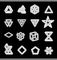 set of impossible shapes optical vector image vector image