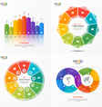 set of infographic templates with 9 options vector image vector image