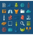 Set of veterinary flat icons vector image vector image