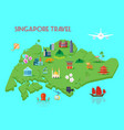 singapore culture composition vector image vector image