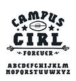 Slab serif font hand drawn vector image vector image