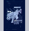 sub machine gun hud design vector image