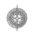 sun icon aztec vector image vector image