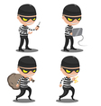 Thief Mask Steal Cartoon Character vector image vector image