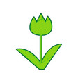 tulip sign lemon scribble icon on white vector image vector image