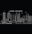 vancouver city silhouette skyline canada vector image vector image