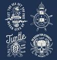 vintage nautical monochrome logos collection vector image vector image