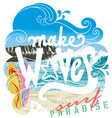 wave surf paradise vector image vector image