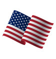 waving flag united states of vector image vector image