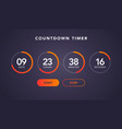 website element flat digital clock countdown timer vector image