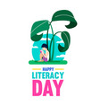 world literacy day poster for children education vector image vector image