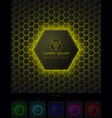 hexagonal background with pace for your logo vector image