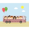 Kids Traveling by Bus vector image