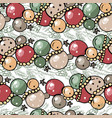 seamless pattern with christmas glass balls and vector image