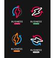 Thunderbolt icon set Thunderbolt business logo vector image