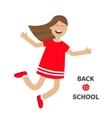 Girl jumping Happy child jump Cute cartoon vector image