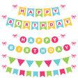 birthday banners set vector image