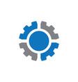 abstract circle gear logo vector image