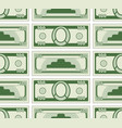 abstract currency pattern vector image vector image