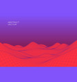 Abstract digital landscape with gradient cyber or