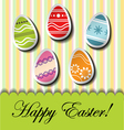 Abstract Easter card with egg stickers vector image vector image