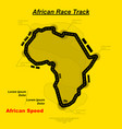 african track background vector image vector image