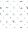 auto icons pattern seamless white background vector image vector image