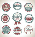bakery retro vintage labels collection vector image vector image