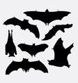 Bat flying animal silhouette vector image vector image