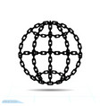 bondage outline globe element in trendy style vector image vector image