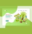 botanical garden isometric banner vector image vector image