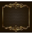 Calligraphic Retro gold frame on background