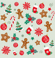 christmas background new year seamless pattern vector image