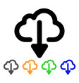 cloud download stroke icon vector image