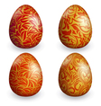 collection golden easter egg with different patter vector image vector image