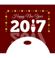 Congratulations to the happy new 2017 year with a vector image