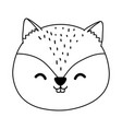 cute chipmunk woodland character vector image vector image