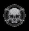 drawing skull head vector image