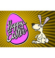 Easter Bunny with the lettering happy easter vector image vector image