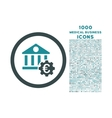 Euro Bank Settings Rounded Icon with 1000 Bonus vector image vector image