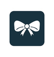 festive bow icon Rounded squares button vector image vector image