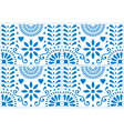 folk art seamless pattern mexican blue vector image vector image