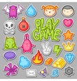 Game kawaii collection Cute gaming design vector image vector image