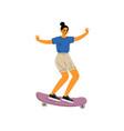 girl riding skateboard female skateboarder vector image