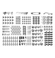 hand drawn different elements vector image vector image