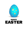 happy easter blue egg vector image